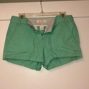 Turquoise J Crew chino shorts